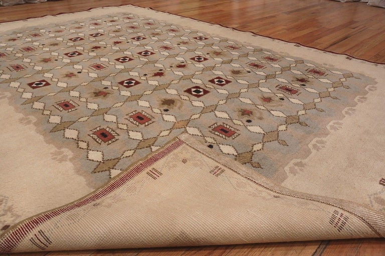 Beautiful room sized antique French Art Deco Lelue rug, country of origin / rug type: Antique French rugs, circa 1920.