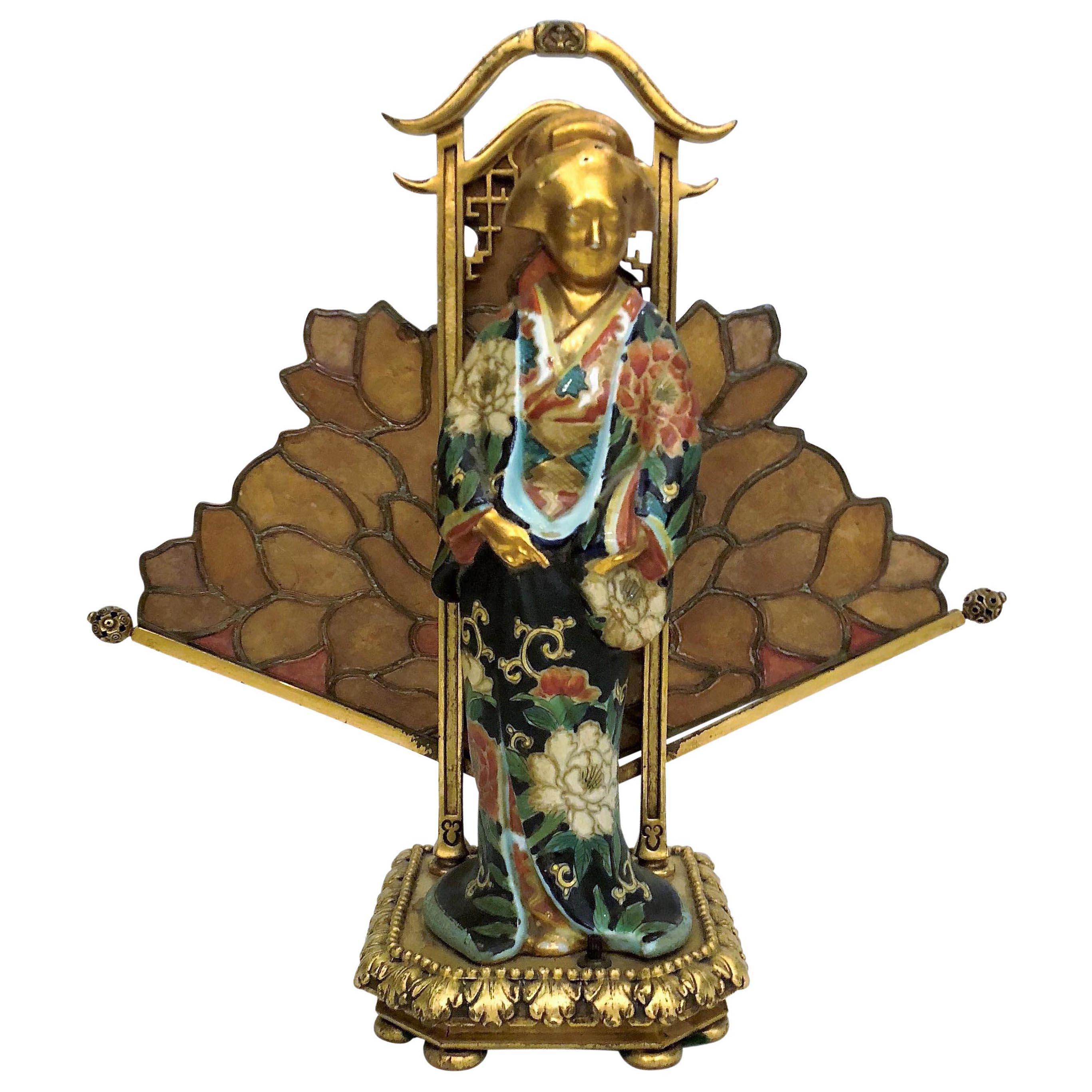 Antique French Art Nouveau Lamp
