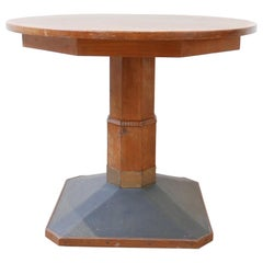 Antique French Arts & Crafts Circular Centre Table