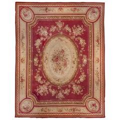 Antique French Aubusson Carpet, circa 1900s