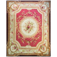 Antique French Aubusson Carpet, Fine Tapestry