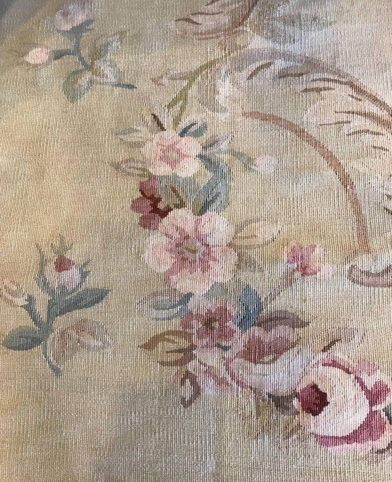 Antique French Aubusson Carpet For Sale 2