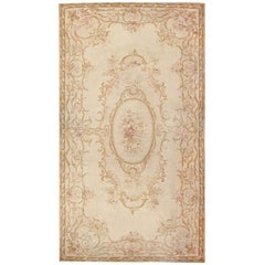 Antique French Aubusson Carpet. Size: 18 ft x 34 ft 6 in (5.49 m x 10.52 m)
