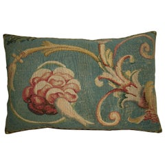 Antique French Aubusson Pillow, circa 1800 1753p