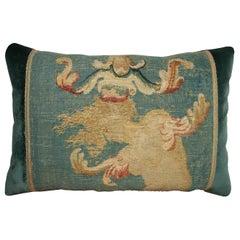 Antique French Aubusson Pillow circa 1800, 1754p