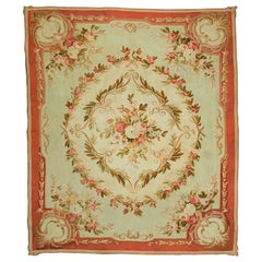 Antique French Aubusson Rug, circa 1890, 8' x 9'