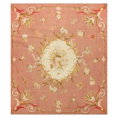 Antique French Aubusson Rug, circa 1890