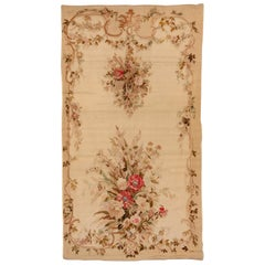Antique French Aubusson Rug, Rare Size