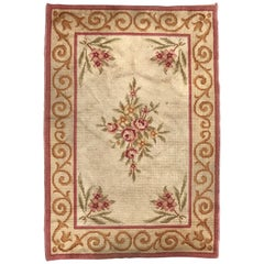 Antique French Aubusson Savonnerie Rug