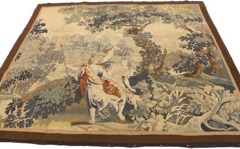 Antique Flemish Mythological Tapestry Medieval Baroque