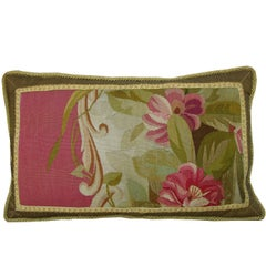 Antique French Aubusson Tapestry Pillow, circa 1860 1154p