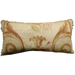 Antique French Aubusson Tapestry Pillow, circa 1860 1188p