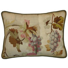 Antique French Aubusson Tapestry Pillow, circa 18th Century 1120p