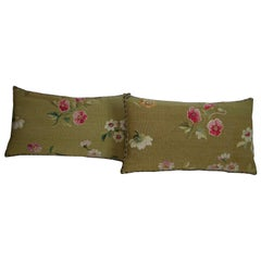 Antique French Aubusson Tapestry Pillow, circa 1860 1749p 1750p