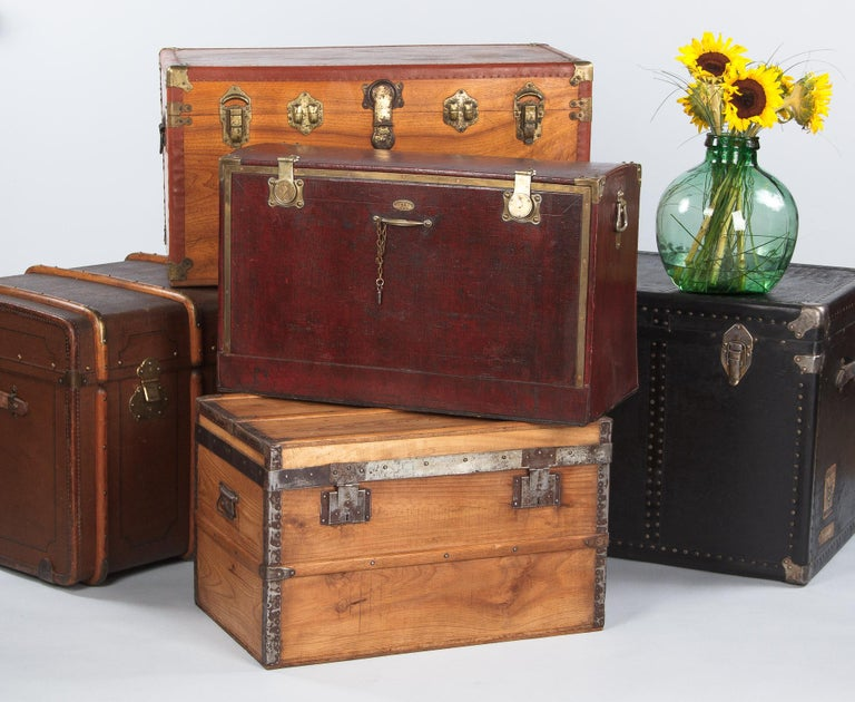 Antique French Automobile Trunk, circa 1900s For Sale 6
