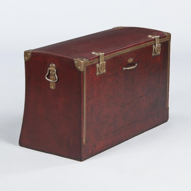 Antique French Automobile Trunk, circa 1900s For Sale 7