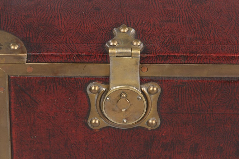 Antique French Automobile Trunk, circa 1900s For Sale 8
