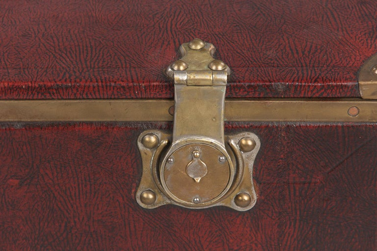 Antique French Automobile Trunk, circa 1900s For Sale 9