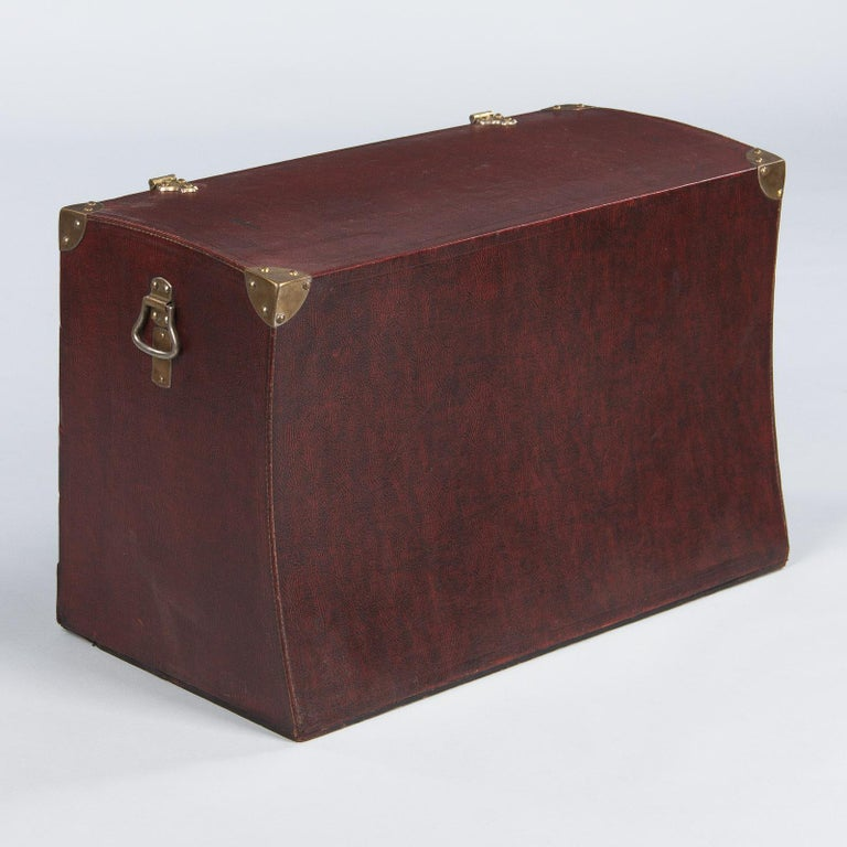 Antique French Automobile Trunk, circa 1900s For Sale 11