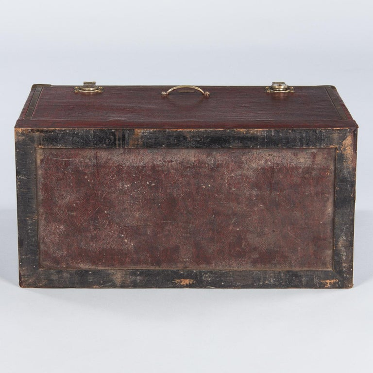 Antique French Automobile Trunk, circa 1900s For Sale 12