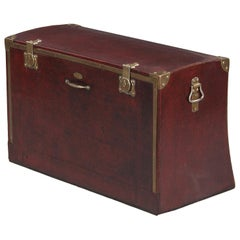 Antique French Automobile Trunk, Early 1900s