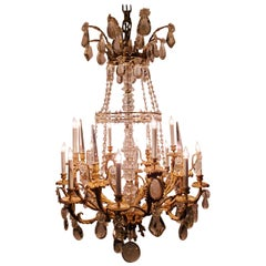 Antique French Baccarat Crystal and Finest Ormolu Napoleon III Chandelier