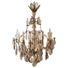 Antique French Baccarat Fine Old Prisms Chandelier