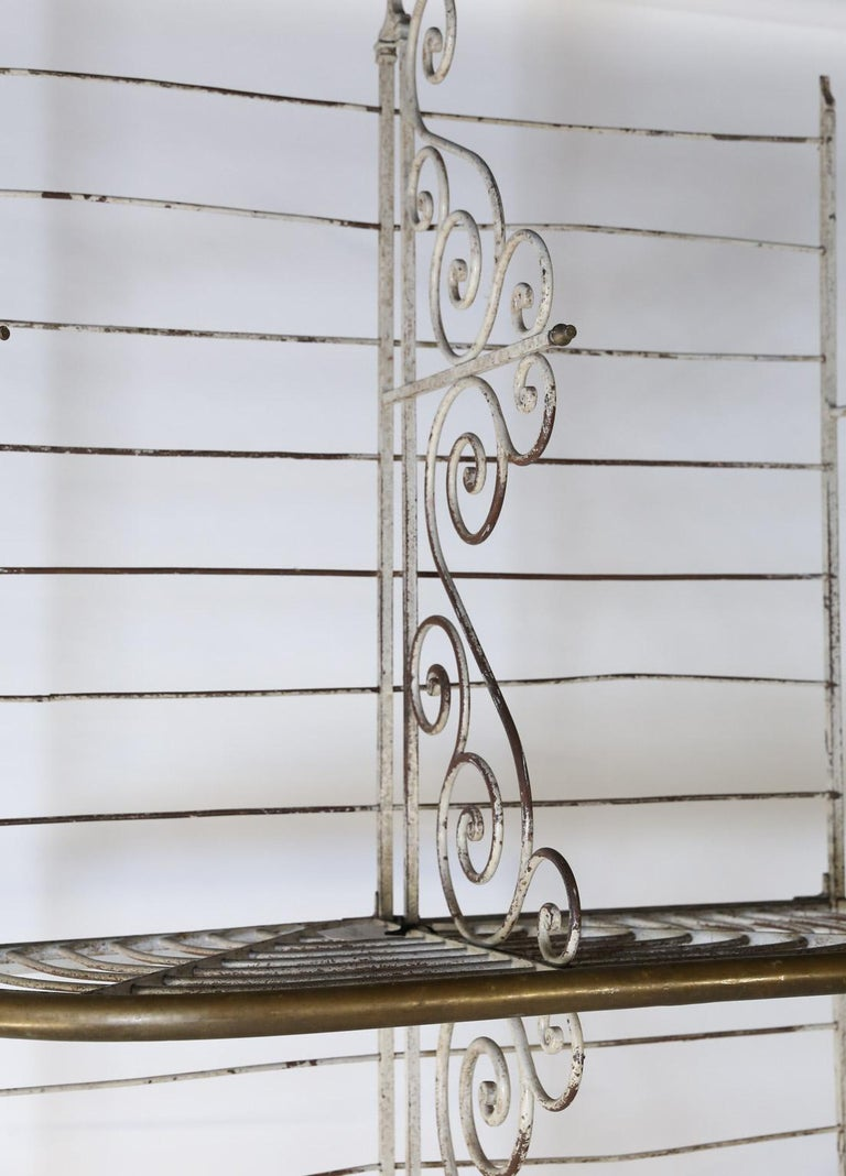 Antique French Bakers Rack In Good Condition In Houston, TX