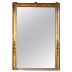 Antique French Baroque Gold Leaf Mirror