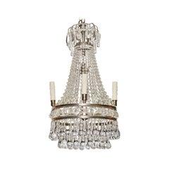 Antiker Französischer Perlen Teardrop Kronleuchter