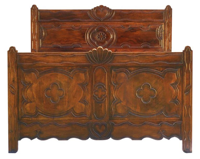 Antique French bed US queen or UK king-size one of a kind, circa 1890-1910