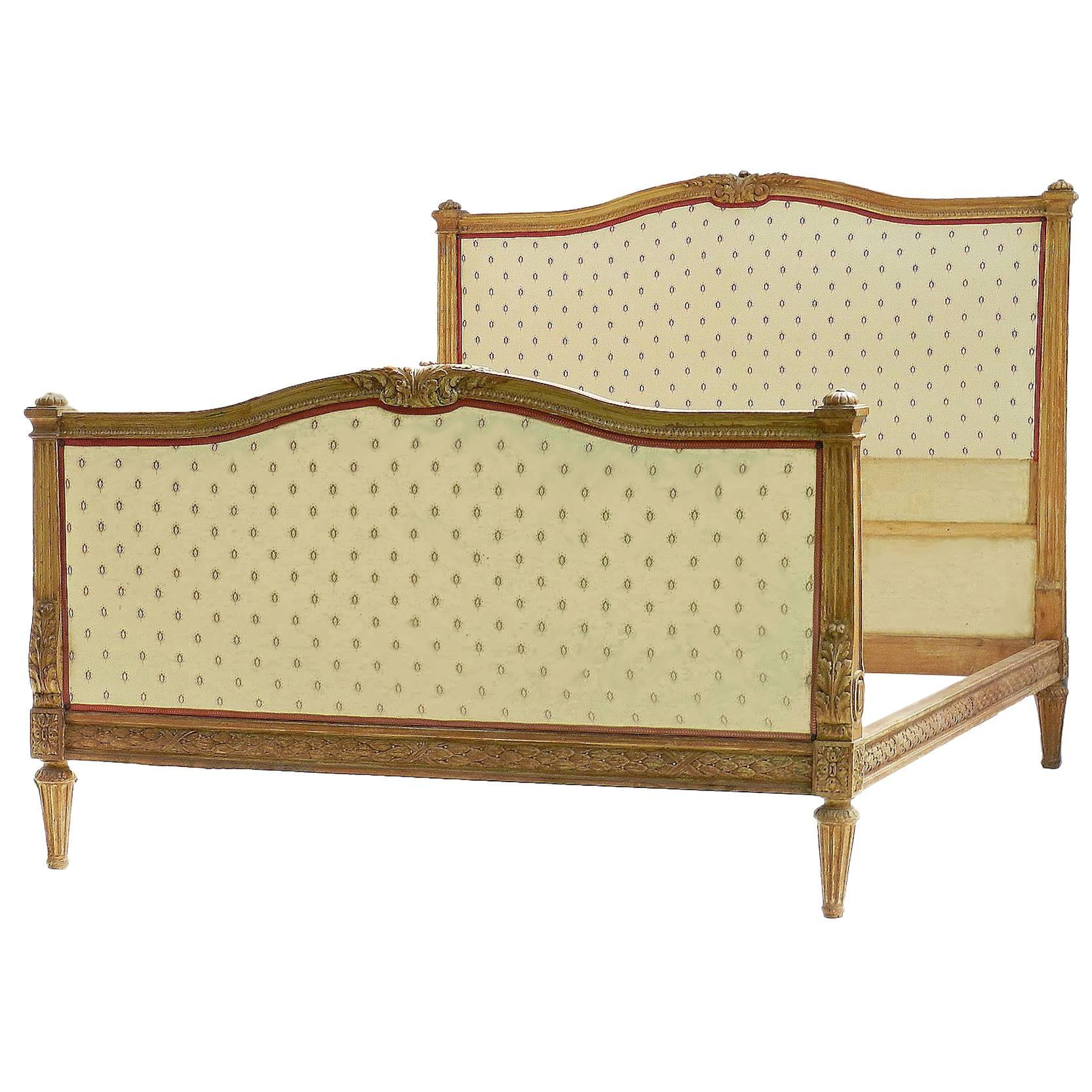 antique french bed us queen or uk king size 19th century louis xvi rh 1stdibs com