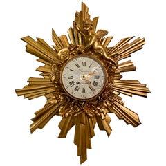Antique French Belle Epoch Bronze D'Ore Clock, circa 1890