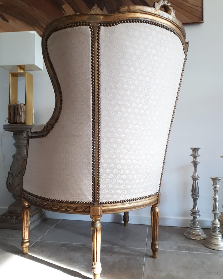 Antique French Bergère Louis XVI Style Napoléon III Period For Sale 5