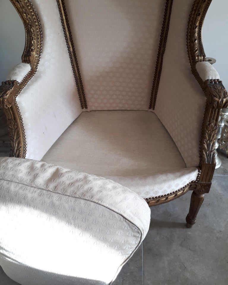 Antique French Bergère Louis XVI Style Napoléon III Period For Sale 1