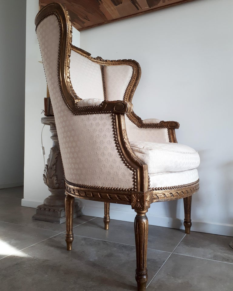 Antique French Bergère Louis XVI Style Napoléon III Period For Sale 2
