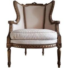 Antique French Bergère Louis XVI Style Napoléon III Period