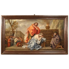Antique French Biblical Painting from the 18th Century
