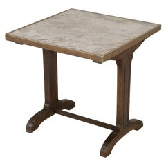 Antique French Bistro Table with Original Marble Top and a Great Patina