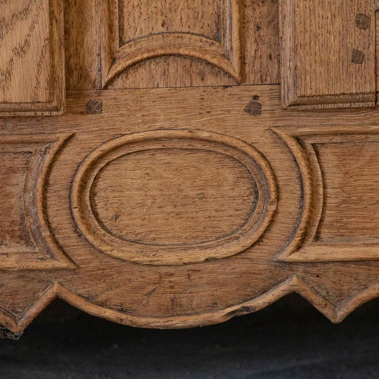 Antique French Bleached Oak Long Sideboard For Sale 4
