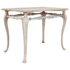 Antique French Bleached Oak Ornamental Side Table