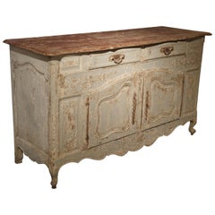 Antique French Blue Painted Buffet from Provence, circa 1900
