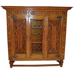 antique French   bookcase/vitrine
