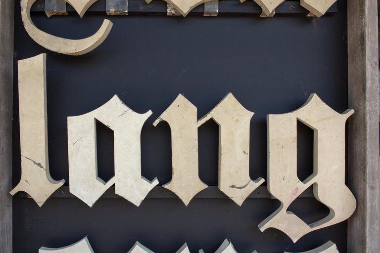 19th Century Antique French Boulangerie Letters Parisian Shop Sign Art For Sale