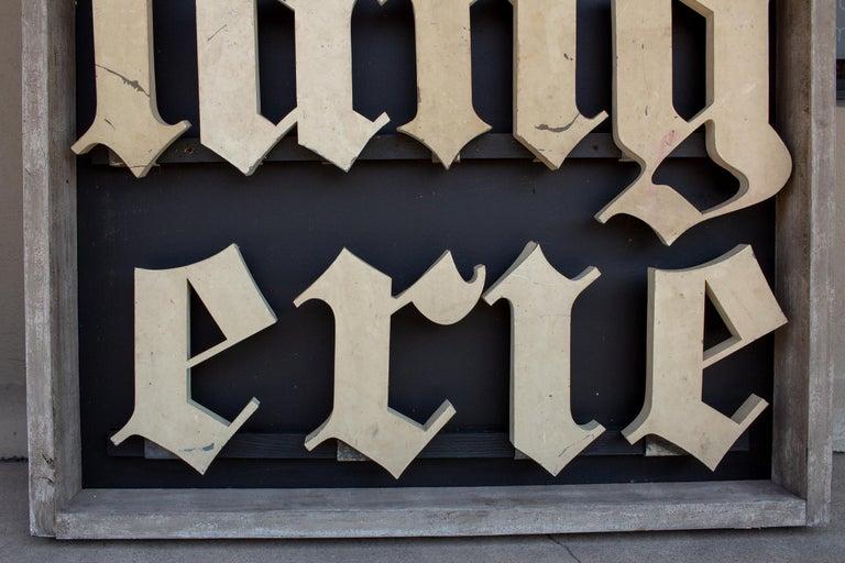 Metal Antique French Boulangerie Letters Parisian Shop Sign Art For Sale