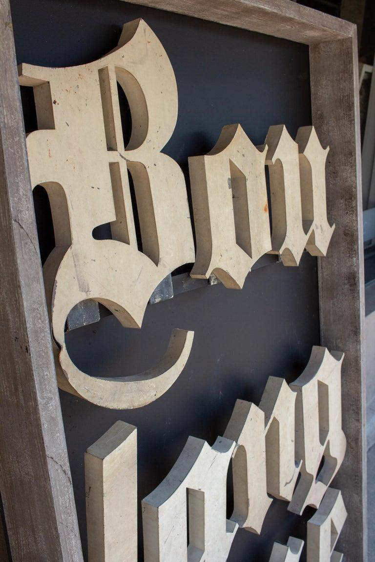Antique French Boulangerie Letters Parisian Shop Sign Art For Sale 4