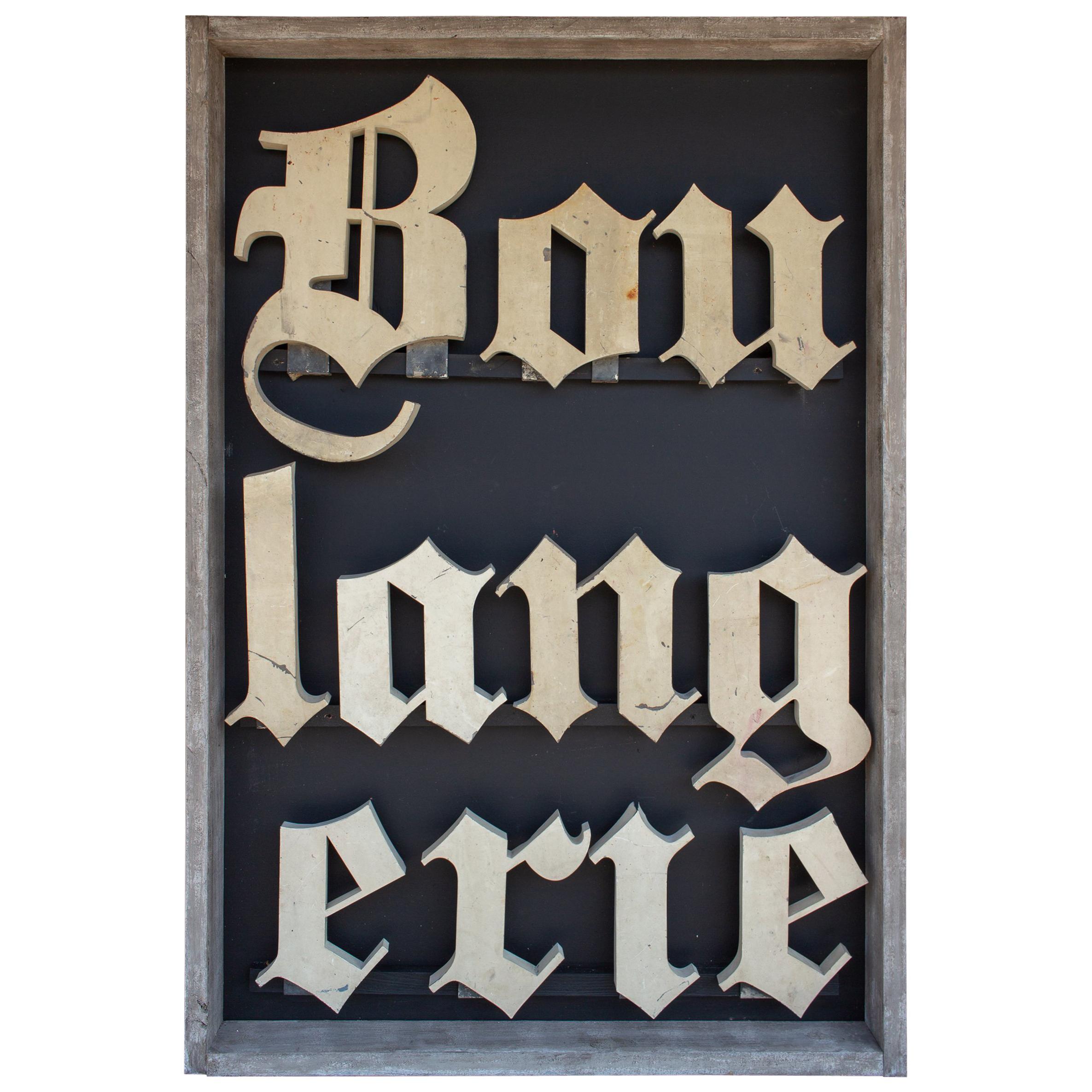 Antique French Boulangerie Letters Parisian Shop Sign Art