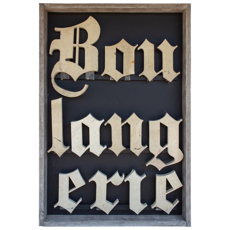 Antique French Boulangerie Letters Parisian Shop Sign Art For Sale