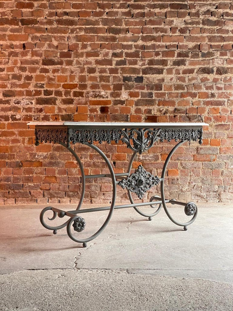 Antique French Boulangerie Pastry Table France, circa 1890  For Sale 6