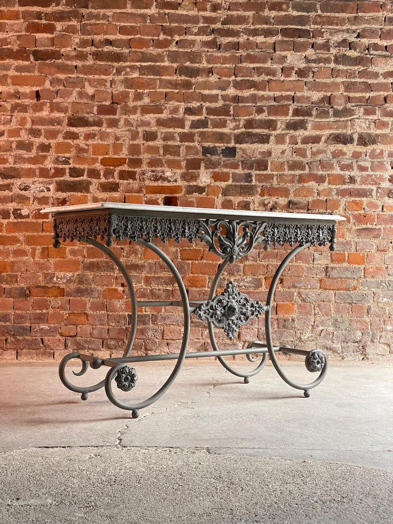 Antique French Boulangerie Pastry Table France, circa 1890  For Sale 7